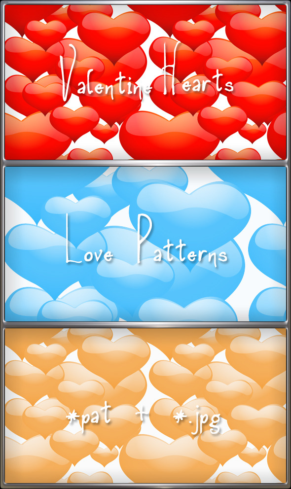 Hearts Valentine Love Romantic Patterns - Textures / Fills / Patterns Photoshop