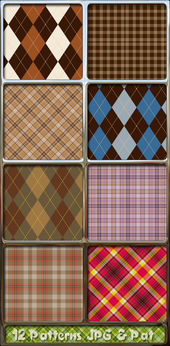 Argyle-tartan-plaid-fabrics-patterns - Textures / Fills / Patterns Photoshop