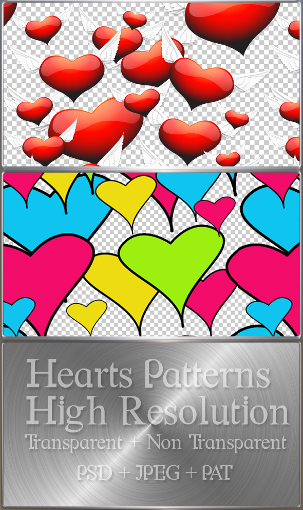 Hearts Pattern - Photoshop Add-ons