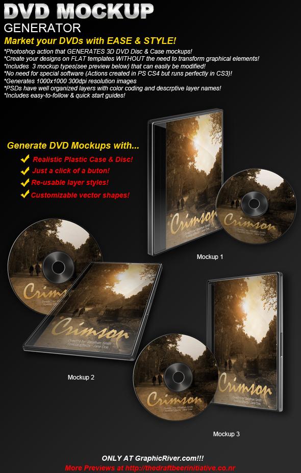 DVD/CD Mockup Generator (Actions & Templates set) - Utilities Actions