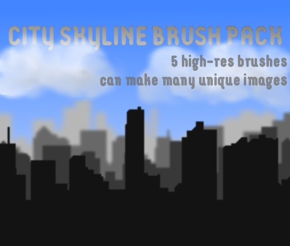 City Skyline Brush Pack - Miscellaneous Brushes