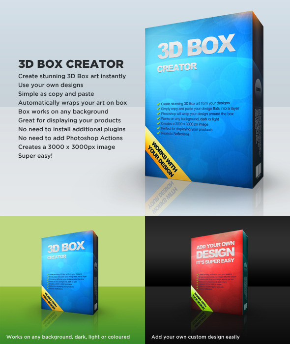 3d Box Art Creator Editable Template By Mashton Graphicriver