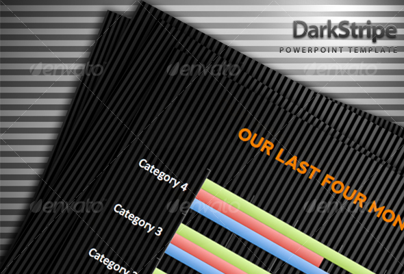 Dark Stripe Powerpoint Template - Abstract PowerPoint Templates