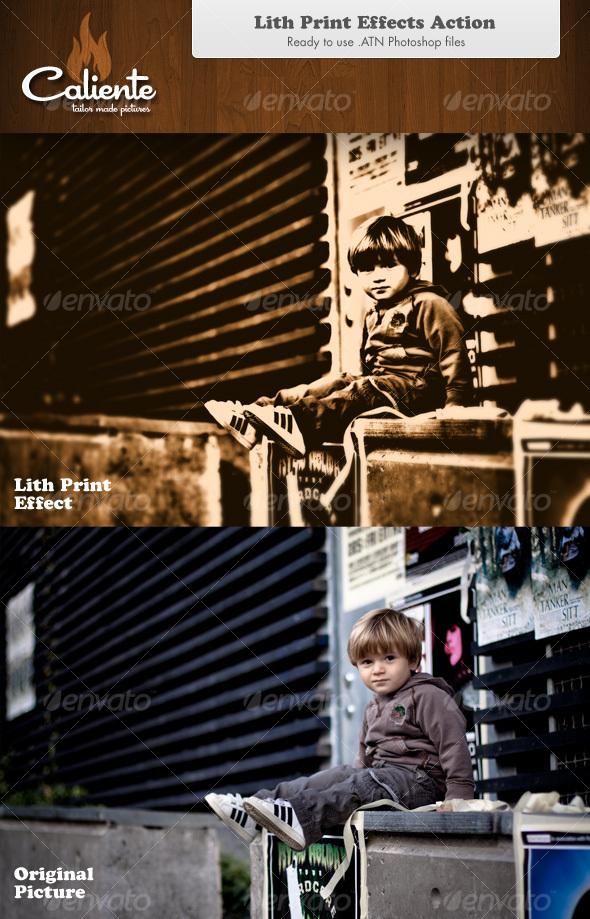 Lith Print Effect - Photoshop Action - Photo Effects Actions