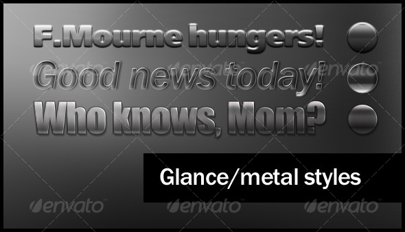 Glance/Metal style collection - Photoshop Add-ons