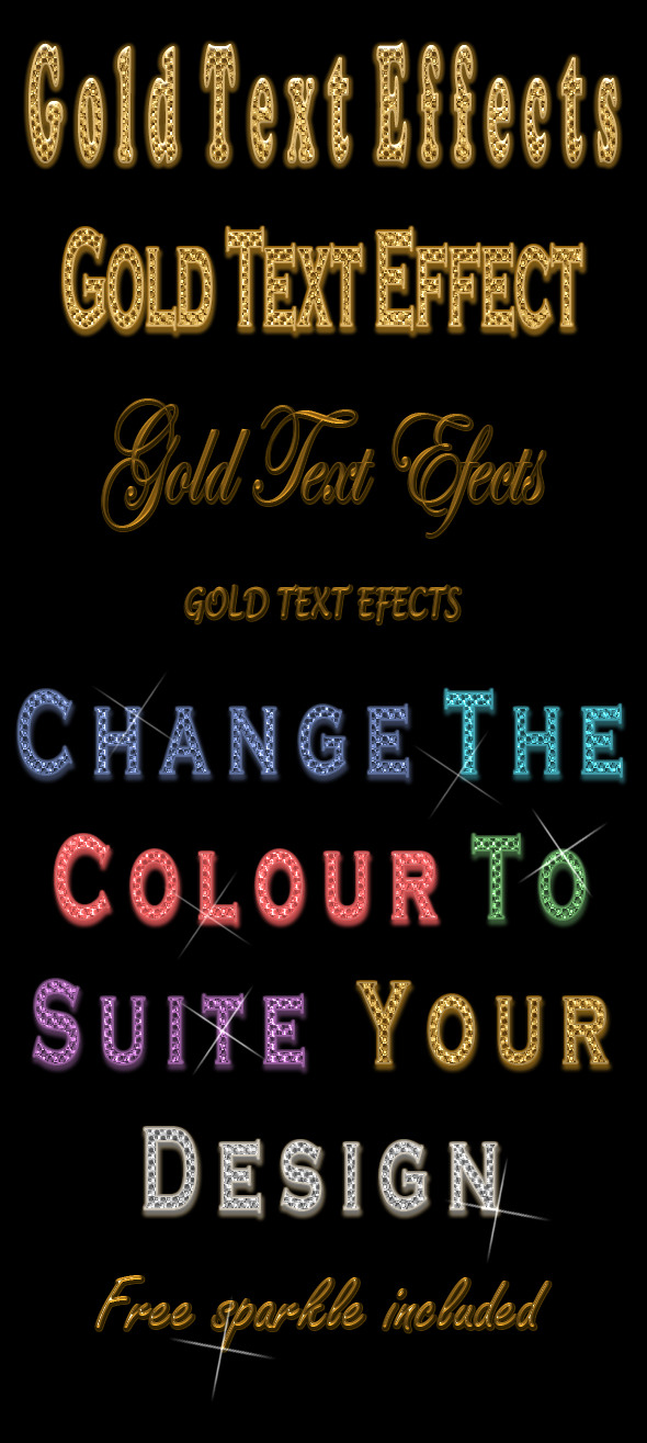 Gold Text Styles - Text Effects Styles