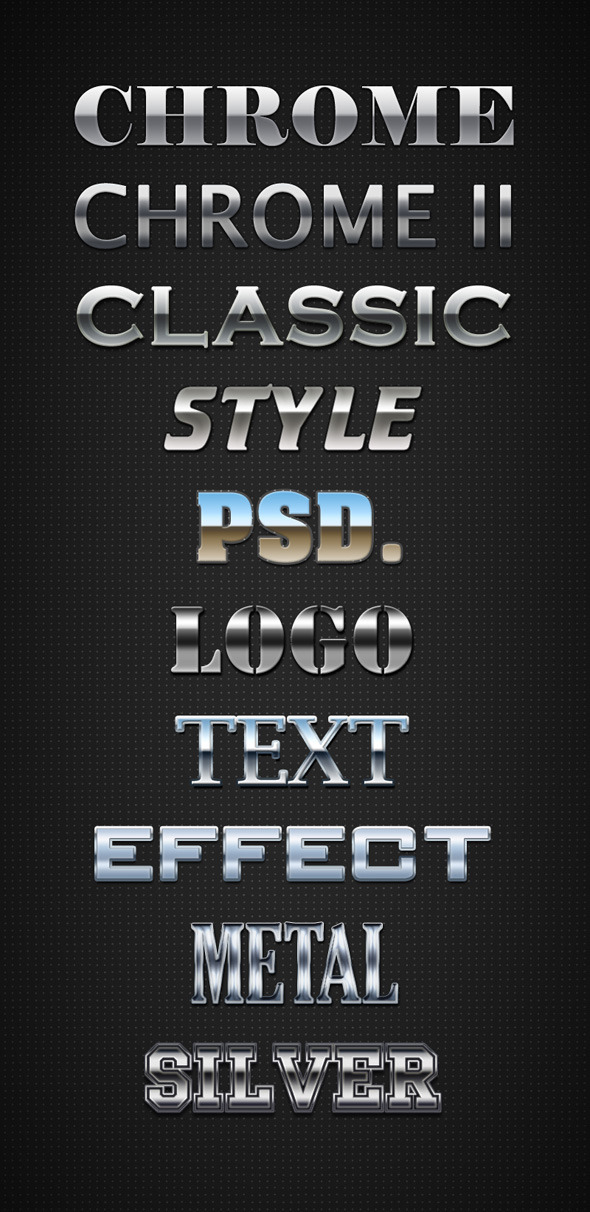 Chrome Layer Styles - Text Effects Styles