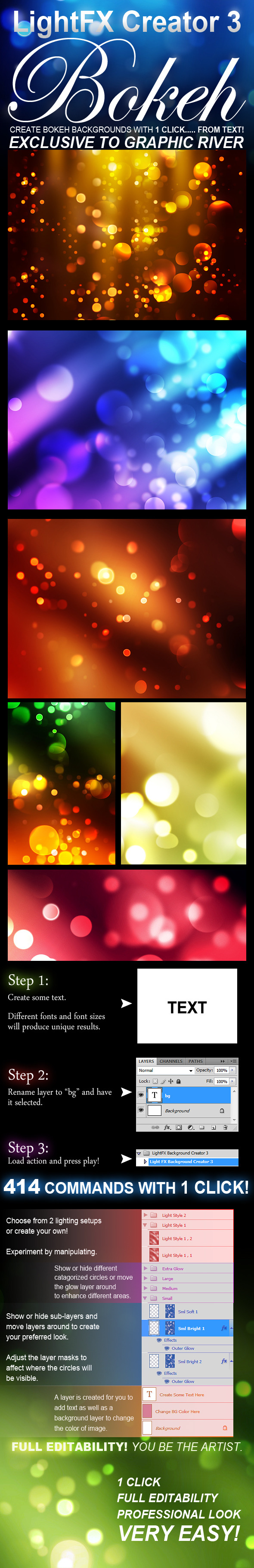LightFX Background Creator 3 (Bokeh) - Utilities Actions