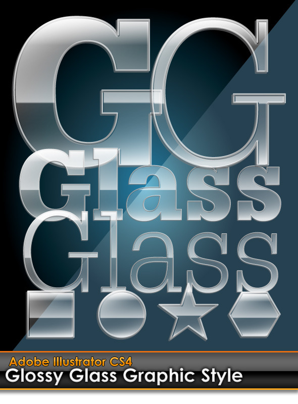 Glossy Glass Illustrator Graphic Style - Styles Illustrator