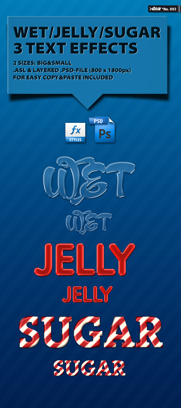 TypoFX 01 Wet/Jelly/Sugar - Text Effects Styles