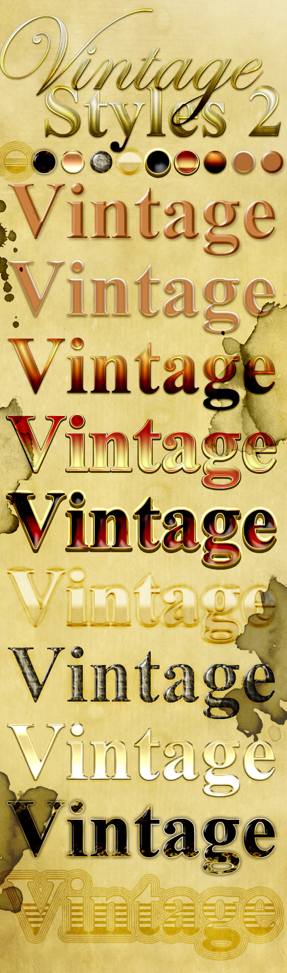 Vintage Text Styles 2 - Text Effects Styles