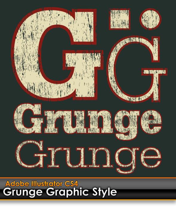 Grunge Distressed Illustrator Graphic Style - Styles Illustrator