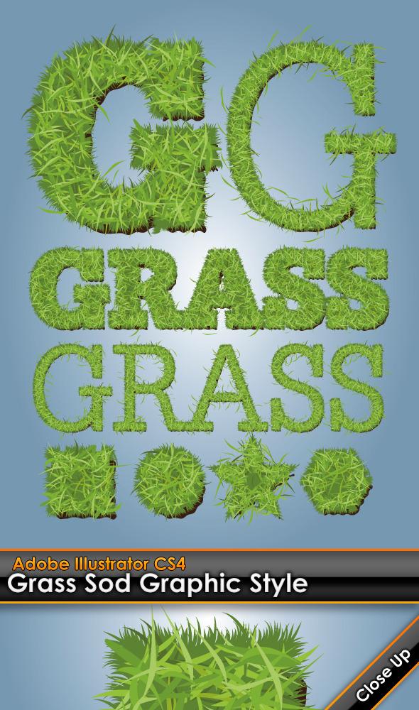 Grass Sod Illustrator Graphic Style - Styles Illustrator