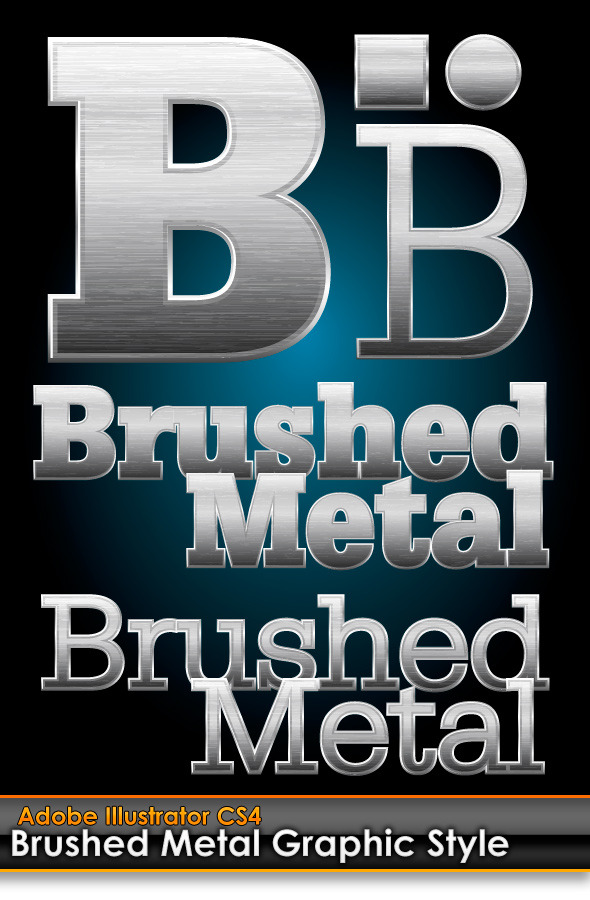 Brushed Metal Illustrator Graphic Style - Styles Illustrator