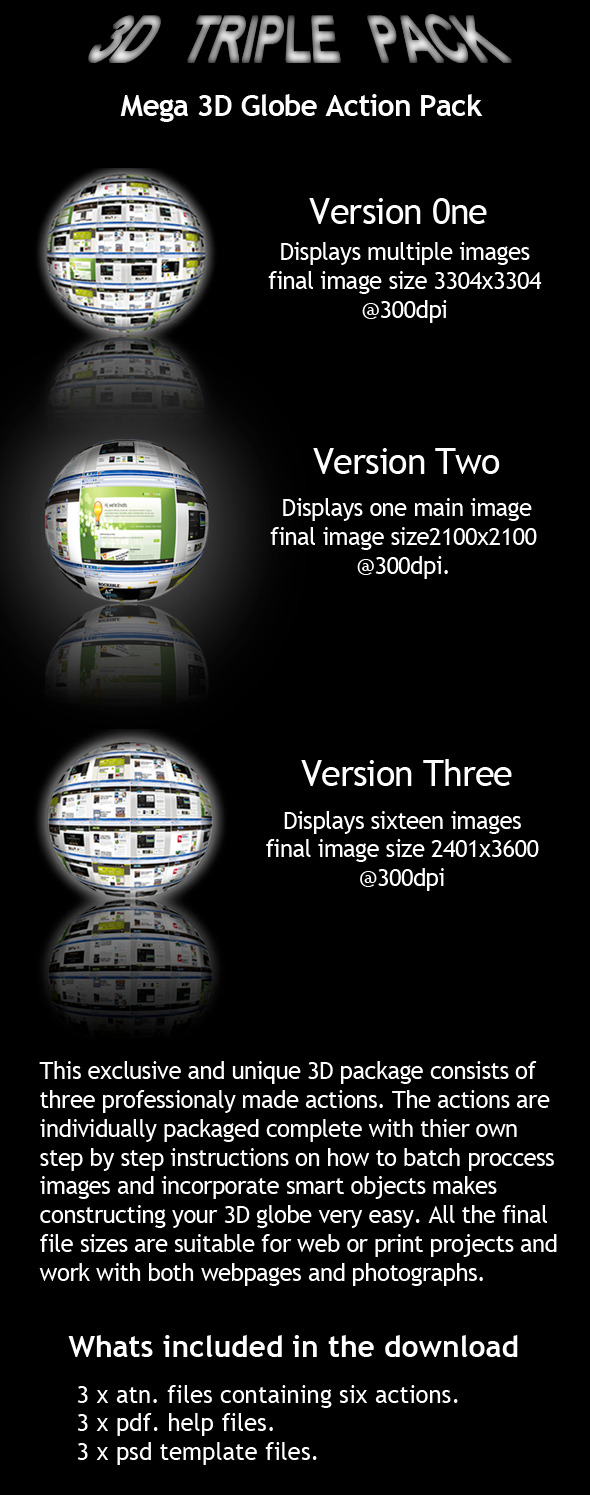 3D Globe WebPage Display - Photoshop Add-ons