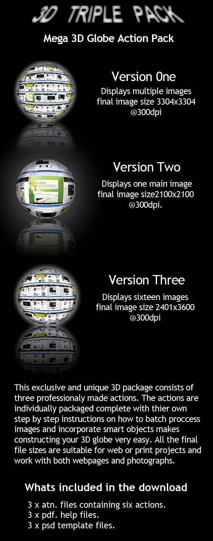3D Globe WebPage Display - Photoshop Add-ons