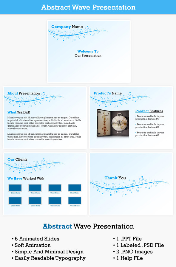 Abstract Wave Presentation - PowerPoint Templates Presentation Templates