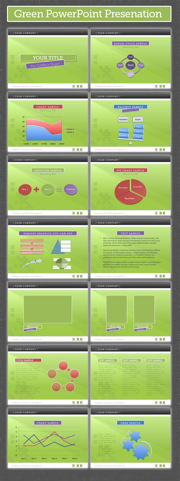 Green PowerPoint Presentation - PowerPoint Templates Presentation Templates