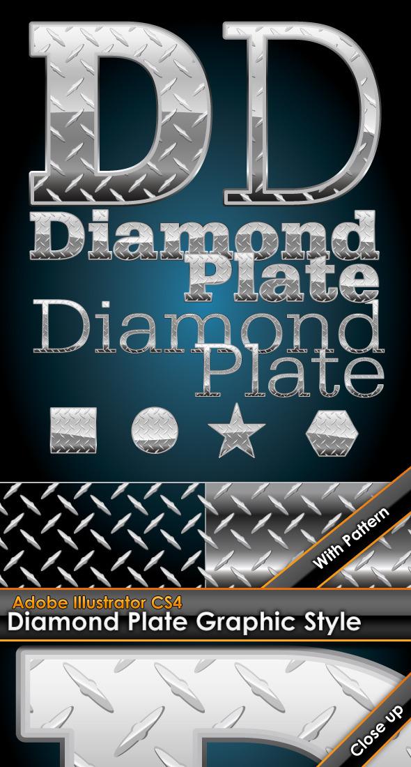 Diamond Plate Illustrator Graphic Style & Pattern - Styles Illustrator