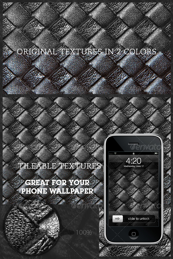 Tileable Leather: Woven Texture 3.0 - Textures / Fills / Patterns Photoshop