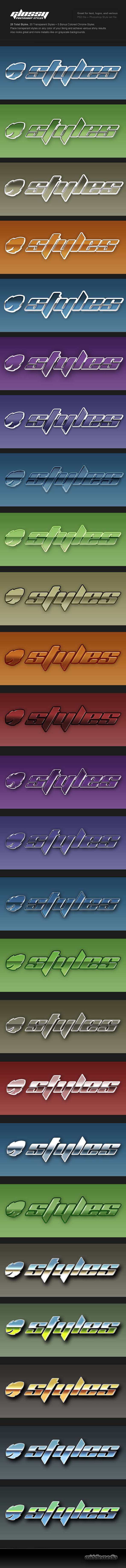 Transperant Glossy Photoshop Styles - Text Effects Styles