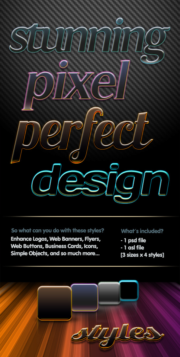 4 Pixel Perfect Styles - Text Effects Styles