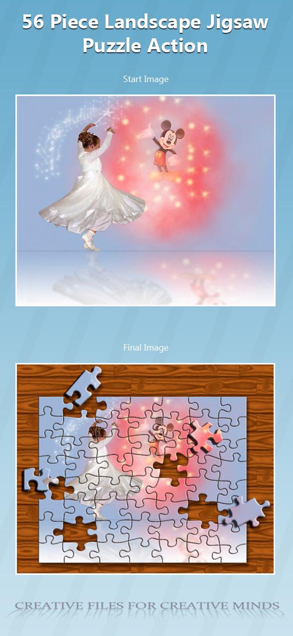 56 Piece Landscape Jigsaw Puzzle Action - Utilities Actions