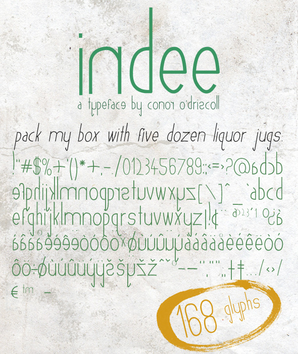 Indee Font - Hand-writing Script