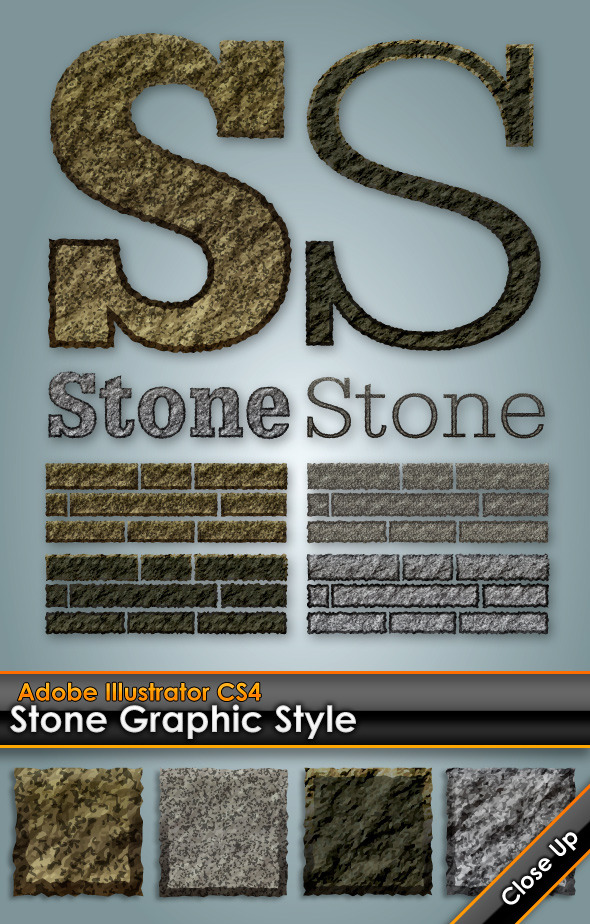 Stone/Granite Illustrator Graphic Style - Styles Illustrator