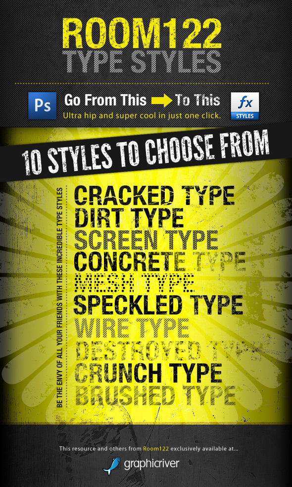 Room122 Type Styles - Text Effects Styles