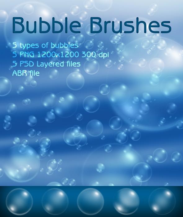 Bubble Brushes - Brushes Photoshop