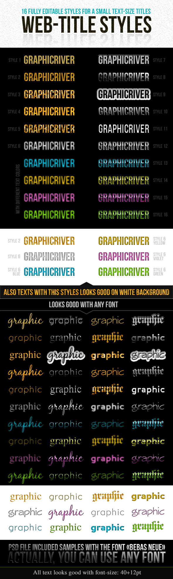 Web-Title Styles - Text Effects Styles