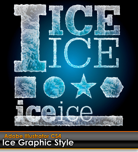 Ice Illustrator Graphic Style - Styles Illustrator