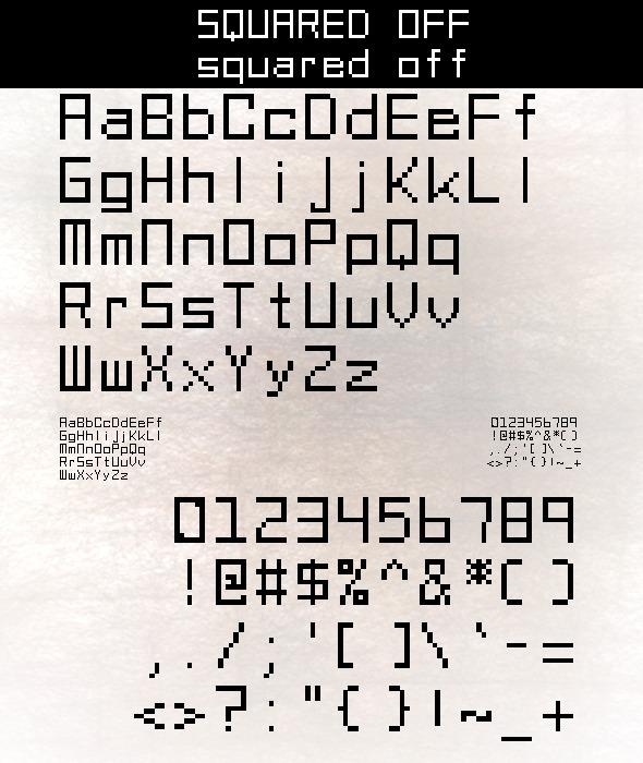 Squared Off - Bitmap & Pixel Decorative