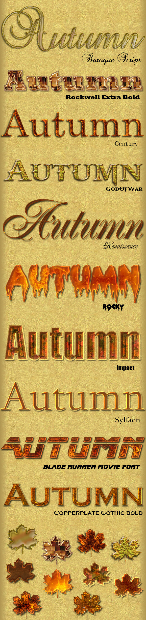 10 Autumn Layer Styles - Text Effects Styles