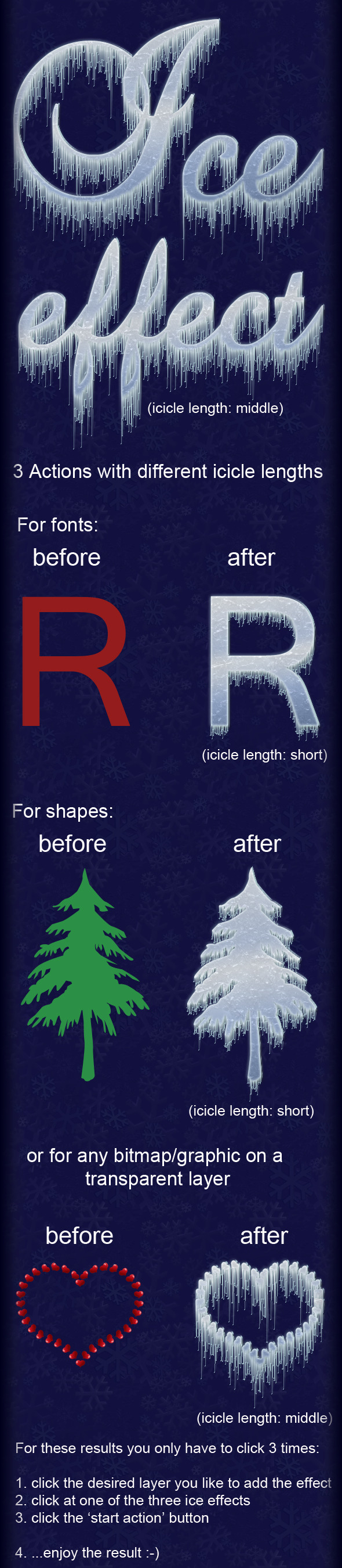 Ice Effect - Text Effects Actions