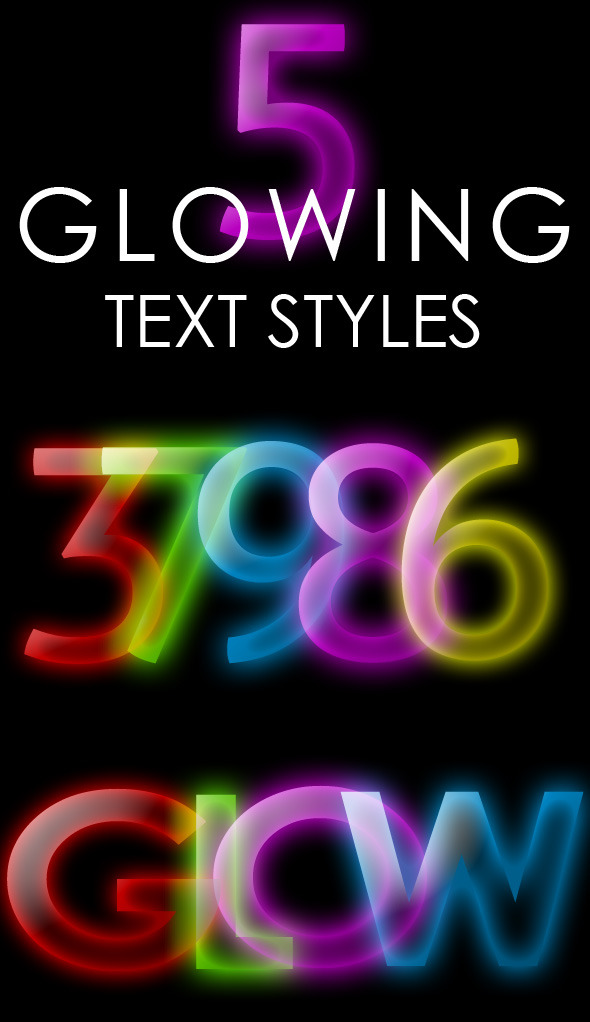 Glowing Text Style - Text Effects Styles