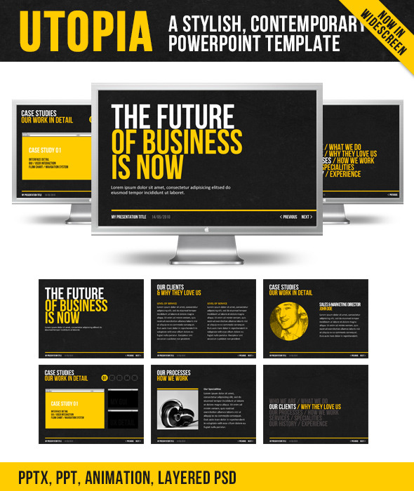 Utopia PowerPoint Template - PowerPoint Templates Presentation Templates