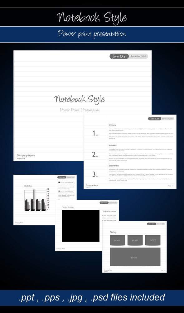 Notebook style power point presentation by aa team graphicriver notebook style power point presentation powerpoint templates presentation templates toneelgroepblik Choice Image
