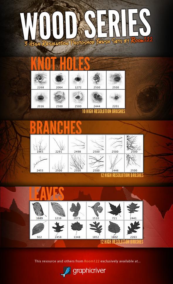 Wood Series - Photoshop Brush Sets - Brushes Photoshop