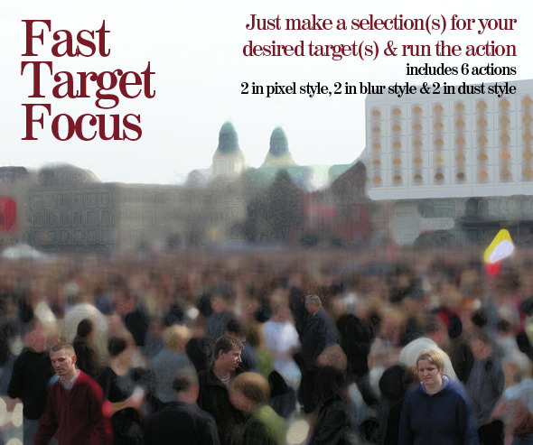 Fast Target Focus - Photo Effects Actions