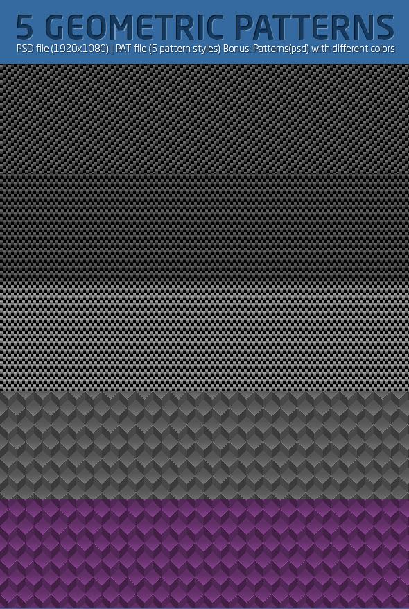 Geometric & Carbon Patterns - Techno / Futuristic Textures / Fills / Patterns