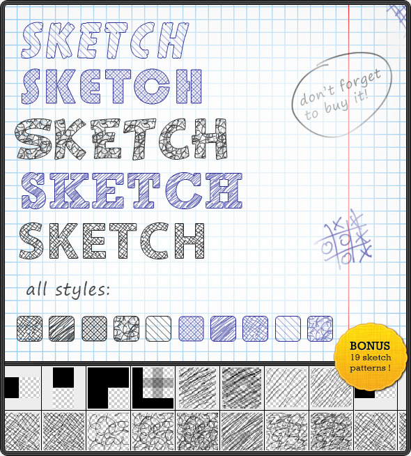 Sketch Text Styles - Text Effects Styles