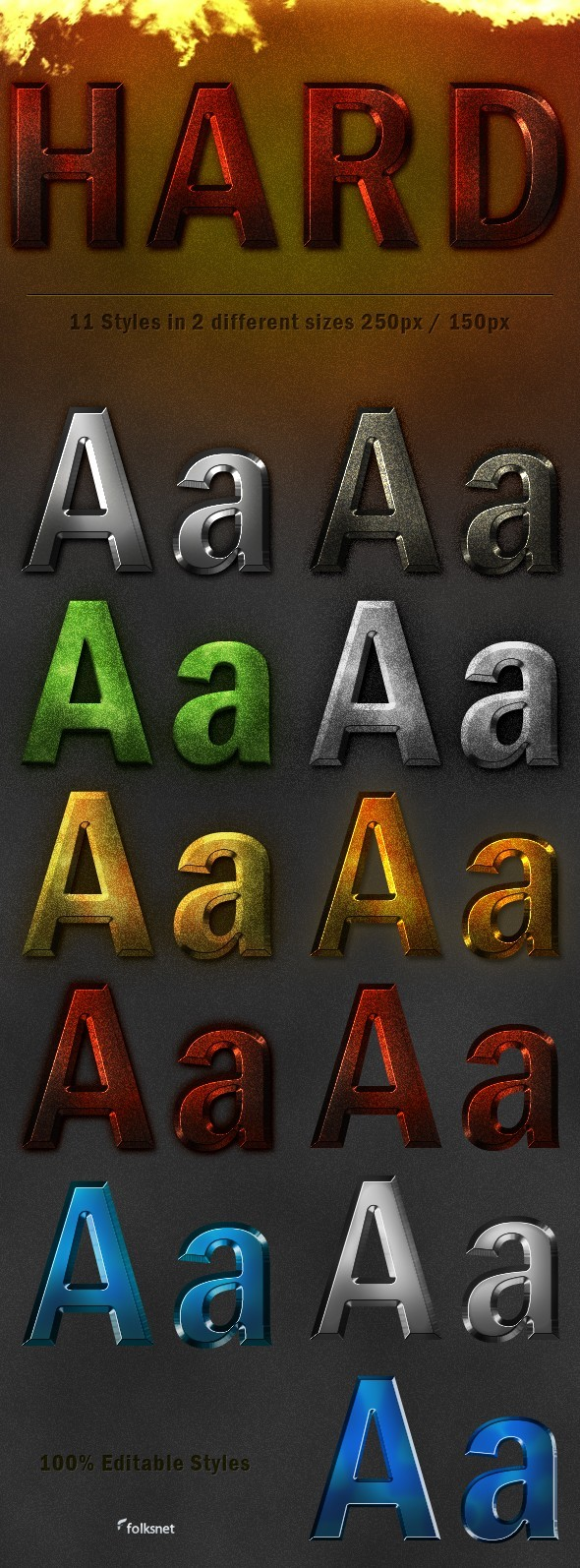 Hard Styles - Text Effects Styles