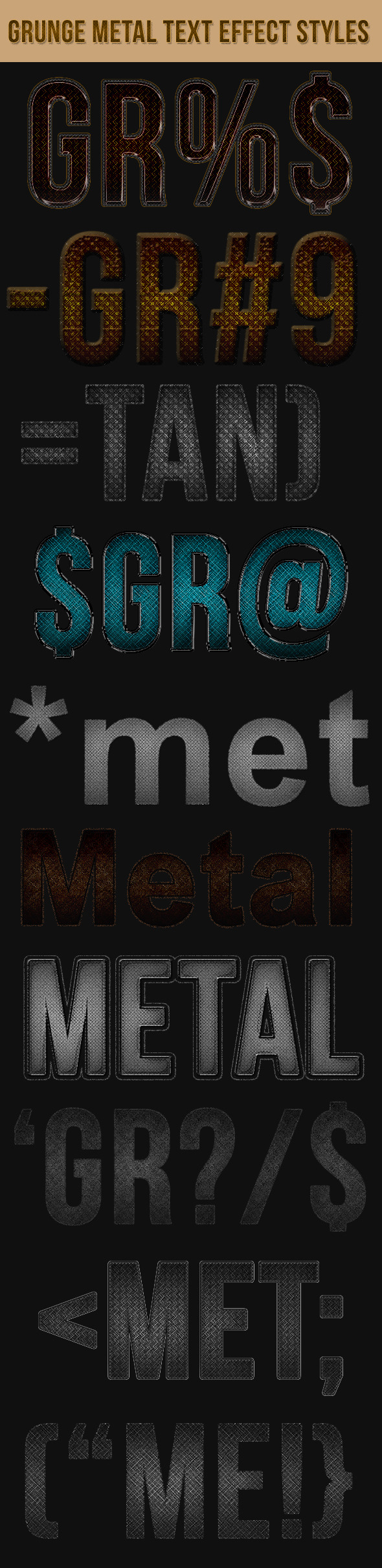Grunge Metal Text Effect Styles - Text Effects Styles