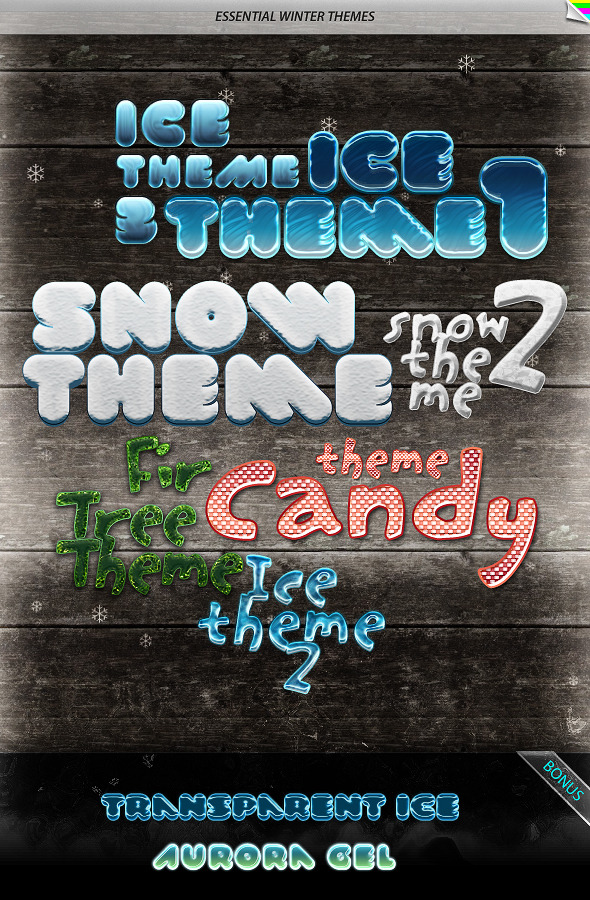 Essential Winter Themes - Text Effects Styles