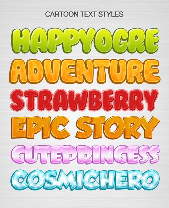 Kids Text Layer Style - Text Effects Styles