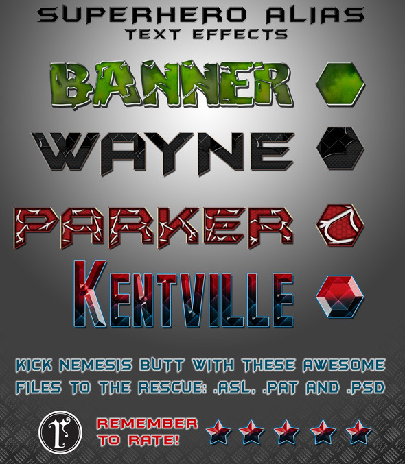 SUPER HERO text styles! - Photoshop Add-ons