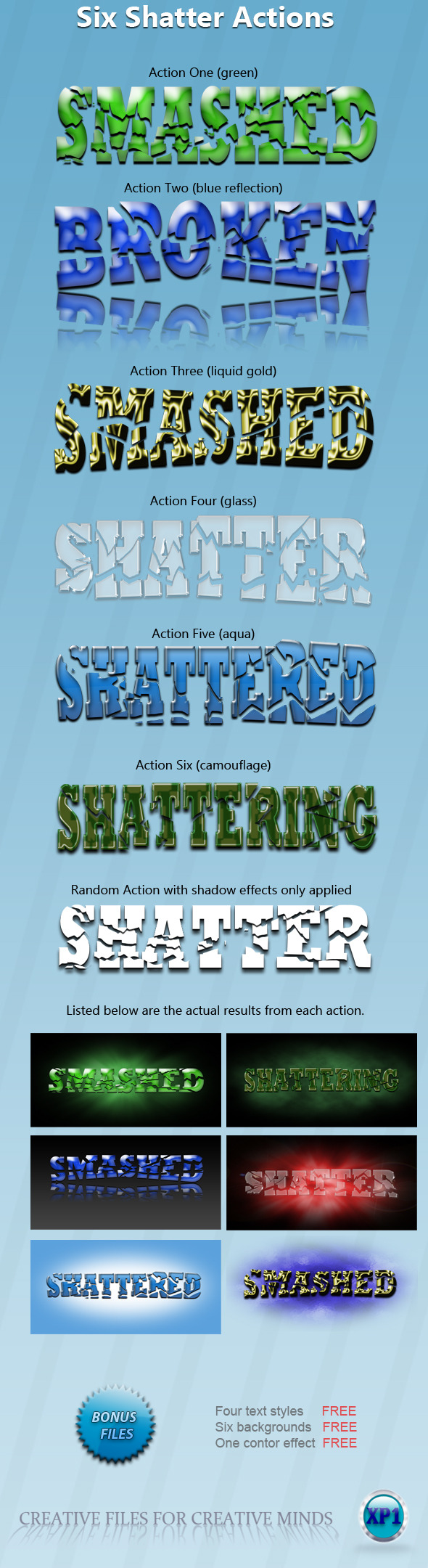 Six Shatter Actions (Text) - Text Effects Actions