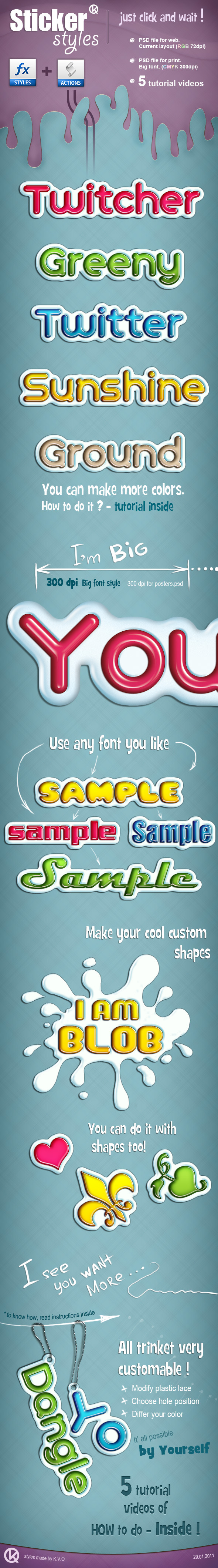 Sticker Styles - Text Effects Styles